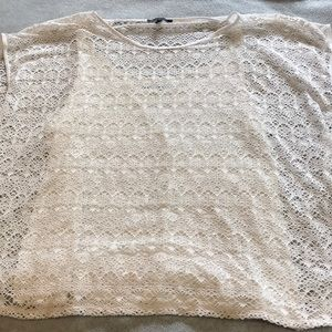 Lined white lace shirt